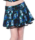 JAWBREAKER BLUE SKULL RUFFLE SKIRT SIZE 8 10 12 14 NEW ALTERNATIVE ROCK GOTH