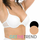 Womens Padded Underwired Tshirt Bra Ladies Marlon Black Full Coverage Bra A-E