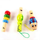 Creative Child wooden whistle cartoon animals small jewelry pendant musical toys