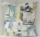 BRAND NEW NAUTICAL THEMED SEA SIDE BOAT CUSHION COVERS YACHT CLUB LIGHTHOUSE