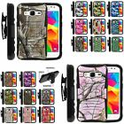For Samsung Galaxy Grand Prime Case Rugged Combo Holster Camo Design Stand Shell