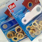 10 Brass Eyelets with washers & tool from PRYM size 11mm or 14mm rustproof
