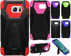 Samsung Galaxy Note 5 Turbo Layer HYBRID KICKSTAND Rubber Case Cover Accessory
