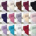 Plain Dyed Fitted Sheet / Flat sheet / Pillowcases Bed Sheet Polycotton All Size