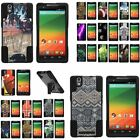 For ZTE ZMAX 970 Stand Shell Case Hybrid Camo Prints Designs