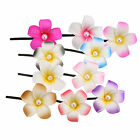 6cm Hawaiian Frangipani Plumeria Foam Head Flower Party Beach Hair Clip Choose