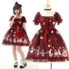Lolita fairy alice in wonderland mad tea party S-sleeve dolly dress R JI3059