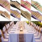 10x 2.75M Quality Burlap Jute Hessian Double Lace Vintage Wedding Table Runner