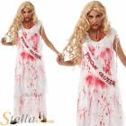Ladies Bloody Prom Queen Carrie Zombie Halloween Fancy Dress Costume Outfit