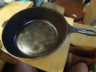 "VINTAGE LODGE CAST IRON PAN TALL DEEP 10 INCH 10"" 8CF CF 8 SMOOTH GLASS BOTTOM"