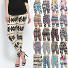 TheMogan Tribal Stripe Chevron Floral Skull Printed Stretch Ankle Leggings S~3XL
