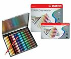 Stabilo Aquacolor Watercolour Colouring Pencils - Assorted Tins 12, 24, 36