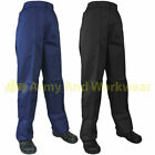 Ladies Work Trousers Heavy Weight Polycotton Plain Pants Half Elastic Waistband