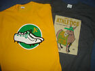 2 Oakland A's 2015 T-shirt Charlie O & White Cleats sz Medium Athletics shoes M