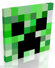Inspired by Minecraft Creeper Head Face * Box Canvas Ready to Hang Various Size