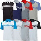 2015 Adidas Climacool Sport Classic 3-Stripes Mens Golf Polo Shirt