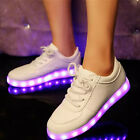 Casual Men Women Lovers Led Night Light Up Sneakers Hip-Hop Dancer Lace Up Shoes