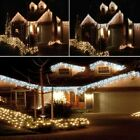 FESTIVE SUPER BRIGHT LED SNOWING ICICLE LIGHTS CHRISTMAS TREE OUTDOOR HOUSE XMAS