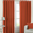 "Riva Home Fiji Faux Silk Fully Lined Ready Made 66x72"" Ring Top Eyelet Curtains"