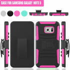 Hybrid Rugged Armor Hard Clip Holster Case Soft Cover For Samsung Galaxy Note 5