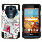 Case For LG Power L22C Y Stand Shell Black Cover Hybrid Camo Print Dual