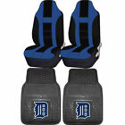 MLB Detroit Tigers Rubber Floor Mat High Back Seat Cover Universal Combo on Ebay
