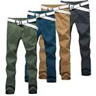New Korean Style Mens Casual Slim Fit Straight Pants Formal Dress Trouser 4Color