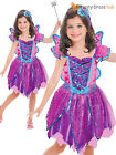 Age 3 4 5 Girls Pink Sparkly Fairy Costume + Wand Kids Fancy Dress Up Book Week