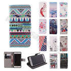 For Samsung Tough Tuff Wallet Card PU Leather Flip Stand Case Cover Rubber Skin