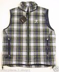 RLX Ralph Lauren Mens Quilted Full Zip Tartan Plaid Down Vest $198