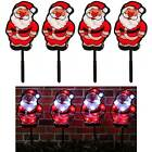 Set of 4 Santa Garden Pathway Christmas Lights 48 White LED