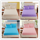Dots Single/Queen/King Size Bed Fitted Sheet With Pillow Cases New Bedding Sets