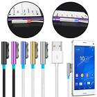 Magnetic Aluminum LED USB Charger Cable For Sony Xperia Z1 Z2 Z3 Compact & Ultra