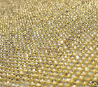 HIGH QUALITY 1.2mtr CHATON DIAMANTE BLING MESH STITCH SEW ON REEL CRYSTAL Sheet