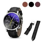 Watch Strap 12-24mm Option Silver Plated Buckle Black Brown Leather