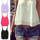 Summer Women's Sexy Shirt Sleeveless Chiffon Blouse Loose Casual Tank Tops Vest