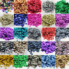 7mm ROUND CUPPED SEQUINS EMBELLISHMENTS *32 COLOURS* SEWING CARD CRAFTS CONFETTI