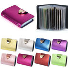 8 Colors Women Pocket PU Leather Business ID Credit Card Holder Case Wallet Hot