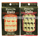 *FRIGHT NIGHT 24 Pre-Glued HALLOWEEN Press On Nails GREAT FOR KIDS *YOU CHOOSE*