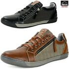Alpine Swiss Fabian Mens Casual Sneakers Low Top Lace Up Zippered Fashion Shoes