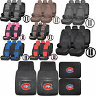 Synthetic Leather Seat Covers NHL Montreal Canadiens Rubber Floor Mat Universal $109.95 USD on eBay