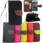 Wallet Pu Leather Flip Leaf Card Case Cover For Samsung Galaxy S3 S4 S5 Note 3