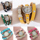 Fashion Cute Women Ladies Girl Quartz Bracelet Leather Wrist Watch Nice Gift WEB