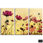 Floral Vintage shabby chic Floral BOX FRAMED CANVAS ART Picture HDR 280gsm
