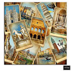 Italy Collage   Vintage BOX FRAMED CANVAS ART Picture HDR 280gsm