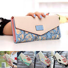 Womens Ladies Envelope Leather Wallet Clutch Purse Long Handbag Bag Card Holder