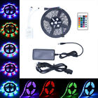 5M SMD RGB 5050 3528 Waterproof 300/600 LED Strip Light 44 Key Remote 12V Supply