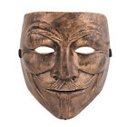 ANONYMOUS V FOR VENDETTA GUY FAWKES FANCY DRESS MASK HALLOWEEN BRONZE UK SELLER