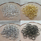 Jump Ring 4mm 5mm 6mm 10mm 12mm Open Or Split Single Connectors Jewelry DIY