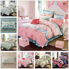 Floral Duvet Covers New Cotton Quilt/Doona Cover Set Double/Queen/King Bed Linen